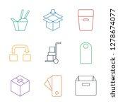 9 cardboard icons. trendy... | Shutterstock .eps vector #1278674077