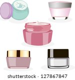 vector cosmetic container dummy | Shutterstock .eps vector #127867847