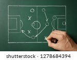 man drawing football game... | Shutterstock . vector #1278684394