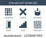 6 exit icons. trendy exit icons ... | Shutterstock .eps vector #1278687394