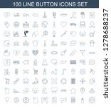 button icons. trendy 100 button ... | Shutterstock .eps vector #1278688237