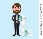 cartoon man looking unhappy... | Shutterstock .eps vector #1278689611
