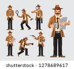 cartoon detective job and... | Shutterstock .eps vector #1278689617