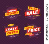 special offer sale label and... | Shutterstock .eps vector #1278689641
