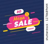 sale tag with 30  off today.... | Shutterstock .eps vector #1278689644