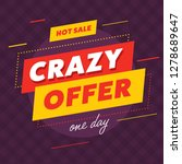 poster design with hot sale and ... | Shutterstock .eps vector #1278689647