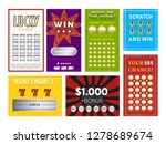 set of various multicolored... | Shutterstock .eps vector #1278689674