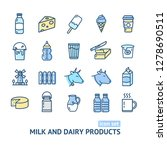 milk dairy products signs color ... | Shutterstock .eps vector #1278690511