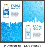 fresh milk banner vertical set... | Shutterstock .eps vector #1278690517