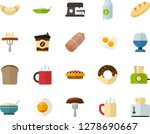 color flat icon set   sausage... | Shutterstock .eps vector #1278690667