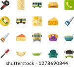 color flat icon set   cheese... | Shutterstock .eps vector #1278690844