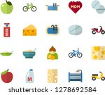 color flat icon set   mothers... | Shutterstock .eps vector #1278692584