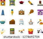 color flat icon set   church... | Shutterstock .eps vector #1278692704
