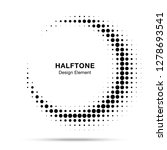 halftone circle frame abstract... | Shutterstock . vector #1278693541