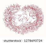 coloring page for valentine's... | Shutterstock .eps vector #1278693724