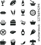 solid black vector icon set  ... | Shutterstock .eps vector #1278694294