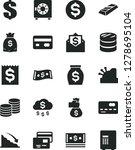 solid black vector icon set  ... | Shutterstock .eps vector #1278695104