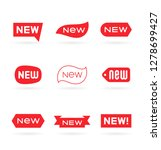 new tag symbol icon  new... | Shutterstock .eps vector #1278699427