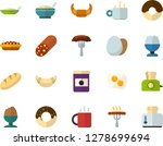 color flat icon set   hot tea... | Shutterstock .eps vector #1278699694