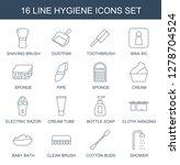 hygiene icons. trendy 16... | Shutterstock .eps vector #1278704524