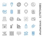 pin icons set. collection of... | Shutterstock .eps vector #1278704881