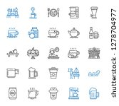 mug icons set. collection of... | Shutterstock .eps vector #1278704977