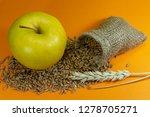 yellow apple  fresh raw wheat... | Shutterstock . vector #1278705271