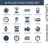 hour icons. trendy 16 hour... | Shutterstock .eps vector #1278706471