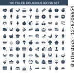 delicious icons. trendy 100... | Shutterstock .eps vector #1278706654