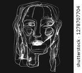 portrait a woman  in modern... | Shutterstock . vector #1278707704