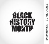 black history month vector... | Shutterstock .eps vector #1278709261