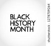 black history month vector... | Shutterstock .eps vector #1278709264