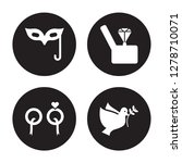 4 vector icon set   eye mask ... | Shutterstock .eps vector #1278710071