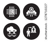 4 vector icon set   cpu  cloud... | Shutterstock .eps vector #1278710227