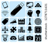 set of 22 business icons ... | Shutterstock .eps vector #1278711631