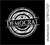 democrat chalk emblem written... | Shutterstock .eps vector #1278711727