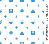 bowl icons pattern seamless... | Shutterstock .eps vector #1278713164