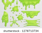 bright green slime drips and... | Shutterstock .eps vector #1278713734