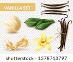 vanilla realistic set with ice... | Shutterstock .eps vector #1278713797