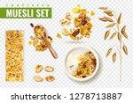 realistic muesli on transparent ... | Shutterstock .eps vector #1278713887