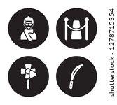 4 vector icon set   producer ... | Shutterstock .eps vector #1278715354