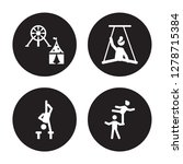 4 vector icon set   amusement... | Shutterstock .eps vector #1278715384