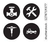 4 vector icon set   gas pipe ... | Shutterstock .eps vector #1278719377