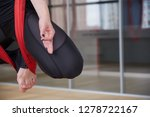 adult woman practices aero anti ... | Shutterstock . vector #1278722167