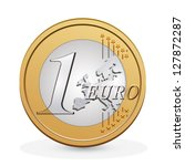 one euro coin. vector design | Shutterstock .eps vector #127872287
