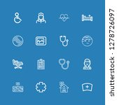 editable 16 patient icons for... | Shutterstock .eps vector #1278726097