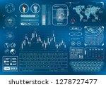complicated bright futuristic... | Shutterstock .eps vector #1278727477