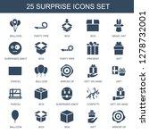 25 surprise icons. trendy... | Shutterstock .eps vector #1278732001