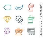 9 icons. trendy slot icons...   Shutterstock .eps vector #1278732061
