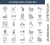 25 wireless icons. trendy... | Shutterstock .eps vector #1278732124
